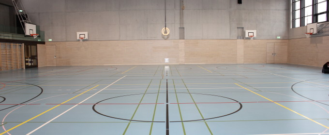Switzerland, Rafz, Sports hall Schalmenacker